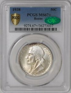 Click now to see the BUY IT NOW Price! 1938 BOONE 50C 938855 36 MS67  SECURE PLUS PCGS   CAC