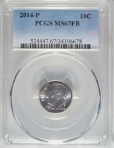 2014 P ROOSEVELT DIME PCGS MS67FB  FULL BANDS
