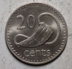 FIJI 1985 20 CENTS COIN   UNCIRCULATED