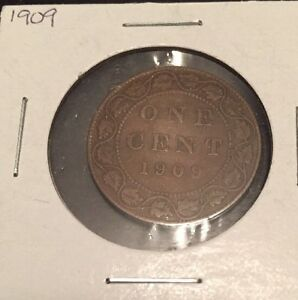 1909 CANADIAN LARGE CENT GOOD CONDITION