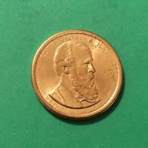 2011 D RUTHERFORD B. HAYES DOLLAR COIN POSITION A EDGE LETTERING EX CONDITION