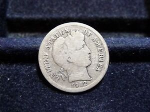 1912 BARBER SILVER DIME IN GOOD CONDITION  J 18 18