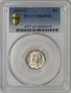 Click now to see the BUY IT NOW Price! 1919 S MERCURY DIME 10C 939243 1 MS65 FB SECURE PLUS PCGS
