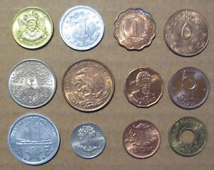 LOT OF 12 WORLD COINS TAKE A LOOK
