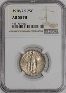 Click now to see the BUY IT NOW Price! 1918/7 S STANDING LIBERTY QUARTER 25C 939121 1 AU58 FH NGC