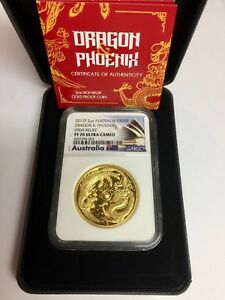 Click now to see the BUY IT NOW Price! 2017 P 2OZ AUSTRALIA GOLD $200 DRAGON & PHOENIX HIGH RELIEF NGC PROOF 70 UC