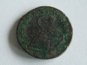 1723 WOODS HIBERNIA HALF PENNY COLONIAL COPPER CENT COIN B9