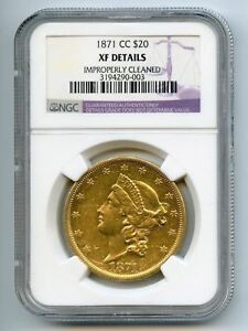 Click now to see the BUY IT NOW Price!  1871 CC XF DETAILS $20 GOLD PIECE   LIBERTY HEAD   DOUBLE EAGLE   AUTHENTIC