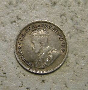 CANADA 1918 5 CENT SILVER COIN   GEORGE V