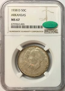 Click now to see the BUY IT NOW Price! 1938 D 50C ARKANSAS SILVER COMMEMORATIVE MS 67 NGC & CAC