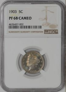 Click now to see the BUY IT NOW Price! 1903 LIBERTY NICKEL 5C 938025 10 PF68 CAMEO NGC