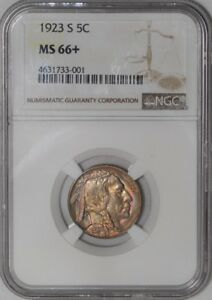 Click now to see the BUY IT NOW Price! 1923 S BUFFALO NICKEL 5C 939188 16 MS66  FINEST KNOWN NGC