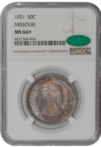 Click now to see the BUY IT NOW Price! 1921 MISSOURI 50C 938670 1 MS66  NGC   CAC
