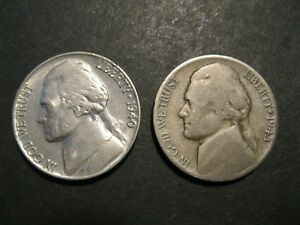 OLDER JEFFERSON NICKEL SET   2 COINS