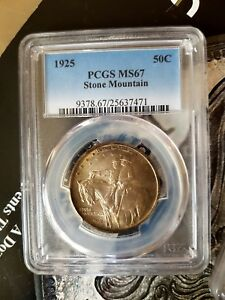 Click now to see the BUY IT NOW Price! 1925 50C STONE MOUNTAIN SILVER COMMEMORATIVE PCGS  MS67