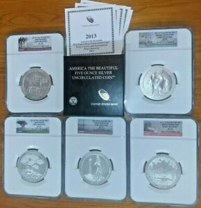 Click now to see the BUY IT NOW Price! 2013 P AMERICA THE BEAUTIFUL ATB 5 OZ COMPLETE SET NGC SP70 FIRST STRIKE E/R