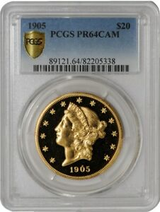 Click now to see the BUY IT NOW Price! 1905 $20 GOLD LIBERTY 941257 1 PR64 CAMEO SECURE PLUS PCGS