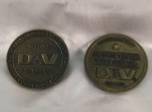 2009 2011 DISABLED AMERICAN VETERANS COLLECTOR'S EDITION COIN/TOKEN DAV 9/11/01