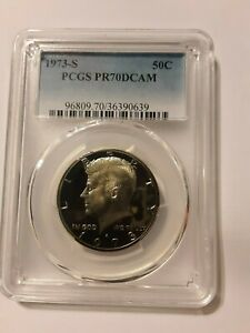 Click now to see the BUY IT NOW Price! 1973 S KENNEDY HALF DOLLAR PF70. LISTS FOR $2800.00. NOW $2600.00