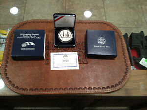 2010 W AMERICAN VETERANS DISABLED FOR LIFE COMMEMORATIVE PROOF 90 SILVER DOLLAR
