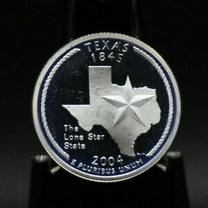 2004 S CHOICE PROOF SILVER TEXAS STATE QUARTER [03DUD]