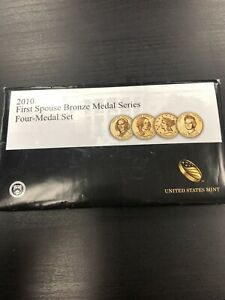 2010 FIRST SPOUSE BRONZE MEDAL SERIES FOUR MEDAL SET   PRESIDENTS WIVES