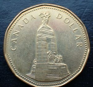 CANADA DOLLAR 1994 CANADIAN REMEMBRANCE COIN CIRC. ITEM 1237