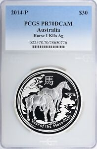 Click now to see the BUY IT NOW Price! 2014 P AUSTRALIA 1KILO SILVER YEAR OF THE HORSE PCGS PROOF 70 DCAM