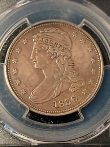 Click now to see the BUY IT NOW Price! 1836 REEDED EDGE HALF DOLLAR PCGS VF  ALMOST XF    LY