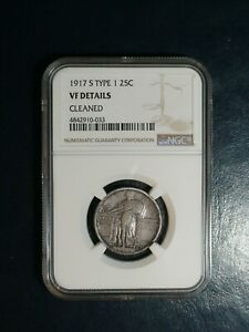 1917 S TYPE 1 STANDING LIBERTY QUARTER NGC VF SILVER 25C COIN PRICED TO SELL
