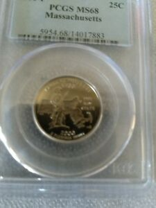 Click now to see the BUY IT NOW Price! 2000 P MASSACHUSETTS STATE QUARTER MS68 PCGS