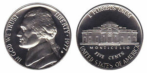 1977 S GEM BU PROOF JEFFERSON NICKEL 5 CENT BRILLIANT UNCIRCULATED US COIN PF