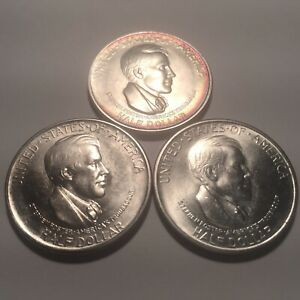 1936 P D S  CINCINNATI  COMMEMORATIVE SILVER HALF DOLLAR SET   SUPERB GEM BU