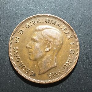 OLD FOREIGN WORLD COIN: 1943 AUSTRALIA 1 PENNY