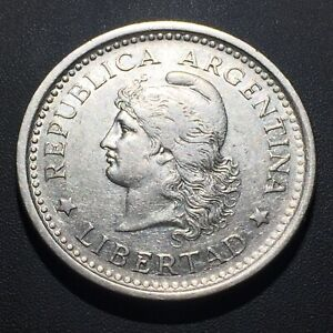 OLD FOREIGN WORLD COIN: 1959 ARGENTINA 1 PESO