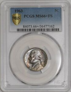 Click now to see the BUY IT NOW Price! 1963 JEFFERSON NICKEL 5C 941560 3 MS66  FS COLOR SECURE PLUS PCGS