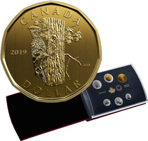 2019 CANADA PILEATED WOODPECKER SPECIMEN LOON DOLLAR $1 COIN ONLY   IN STOCK