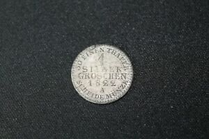 1 SILBER GROSCHEN 1822 A FROM GERMAN STATES PRUSSIA SILVER
