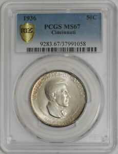 Click now to see the BUY IT NOW Price! 1936 CINCINNATI 50C  MS67 SECURE PLUS PCGS   939536 1