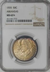Click now to see the BUY IT NOW Price! 1935 ARKANSAS 50C  941328 20 MS67  NGC