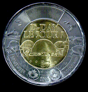 2019 CANADA  D DAY  TOONIE  $2   UNC. FROM ROLL