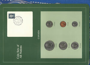 COIN SETS OF ALL NATIONS CANADA ALL 1985 BUT 1 CENT 1984 UNC QUEEN