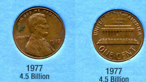 1977 P ABE LINCOLN MEMORIAL AMERICAN PENNY 1 CENT US U.S AMERICA ONE COIN B1