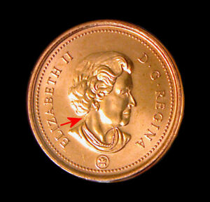 2008 MAGNETIC DOT CANADA   1 CENT   UNC. COIN FROM ROLL
