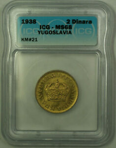Click now to see the BUY IT NOW Price! 1938 YUGOSLAVIA PETAR II 2 DINARS COIN ICG MS 68 KM21  A