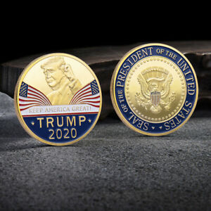 DONALD TRUMP 2020 KEEP AMERICA GREAT COMMEMORATIVE CHALLENGE COIN EAGLE COINS VY