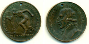 1938 AUSTRALIA 150TH ANNIVERSARY COMMEMORATIVE HOLED MEDAL