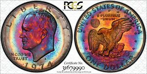 Click now to see the BUY IT NOW Price! 1974S EISENHOWER PR66DCAM BEAUTIFUL RAINBOW TONING GREAT EYE APPEAL TRUE VIEW