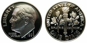 1996 S GEM BU PROOF ROOSEVELT DIME 10 CENT BRILLIANT UNCIRCULATED US COIN 1996S