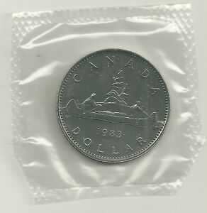1983 UNC  CANADA 1 DOLLAR UNTOUCHED BY HANDS